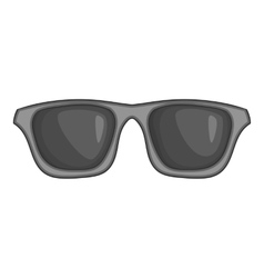 Summer glasses icon black monochrome style vector