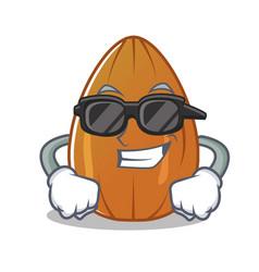 Super cool almond nut character cartoon vector