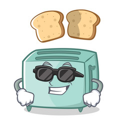 super cool toaster character cartoon style vector image