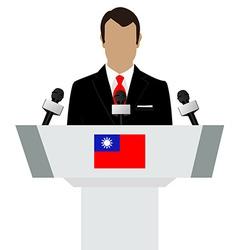 Taiwan flag speaker vector image