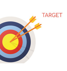 target with an arrow flat icon concept market vector image