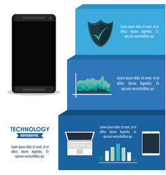 tehnology infographic concept vector image