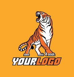 tiger logo sign emblem animal vector image