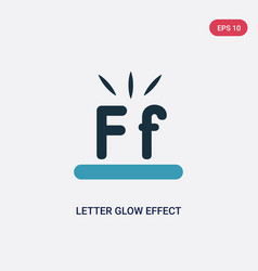 Two color letter glow effect icon from shapes vector