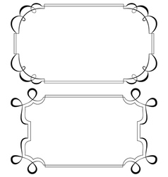 Two vintage horizontal frame Set vector