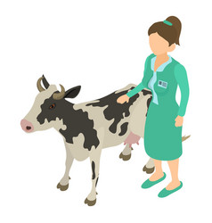 Veterinary assistance icon isometric style vector
