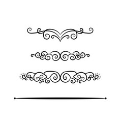 vintage footer set symbol icon design beautiful vector image