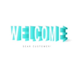 Welcome message vector image