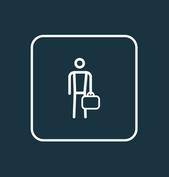 work man outline symbol premium quality isolated vector image