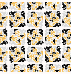 Yellow and black abstract geometric shape grid vector
