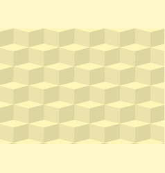 yellow three dimentional geometric background vector image