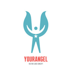Your angel - logo template concept vector