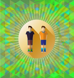 Abstract green design with two football and soccer vector