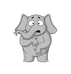 elephant character surprised he is surprised vector image vector image