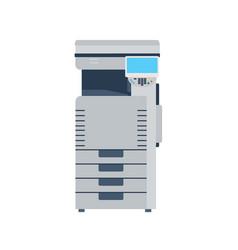 printer machine photocopier copy office photocopy vector image