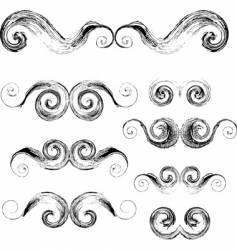 swirls elements vector image vector image