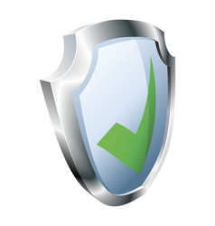 tick shield security concept vector image vector image