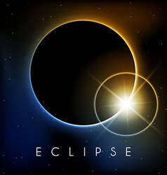 Eclipse with lens flare vector image