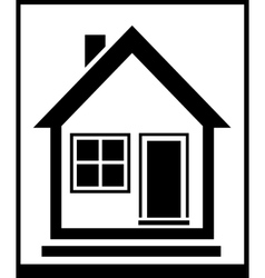 isolated home silhouette vector image vector image