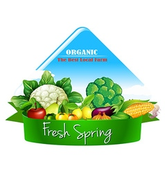 Logo design with many vegetables vector image