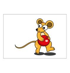 Mouse cartoon vector image