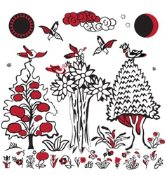 Russian folklore image vector image
