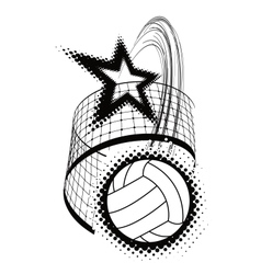 volleyball sport design element vector image
