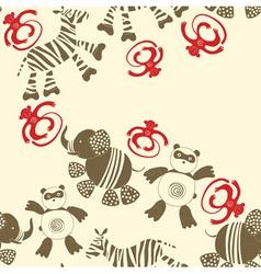 zoo animals pattern vector image vector image