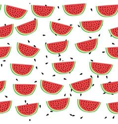 Cartoon style watermelon seamless pattern vector image