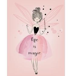 cute fairy girl vector image vector image