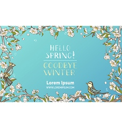 Hello Spring Goodbye Winter vector image vector image