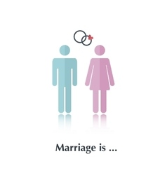 Marriage is vector image vector image