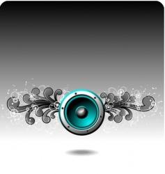 speaker grunge vector image