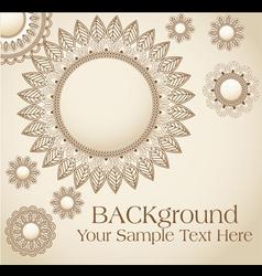 vintage flower pattern background vector image