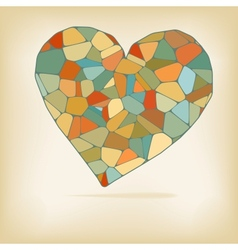 Retro heart made from color form EPS10 vector image