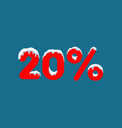 20 off a discount of ten percent numbers in the vector image