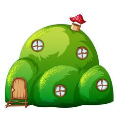A green hill fairy tale house vector