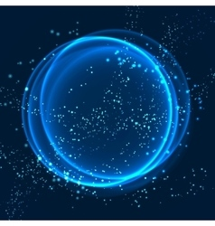 Abstract background with shining round frame vector image