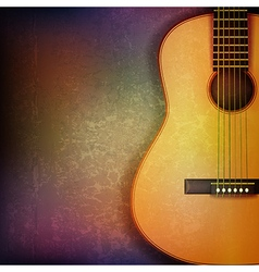 Abstract grunge music background with acoustic vector