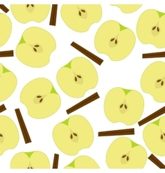 Apple with sinnamon seamless pattern vector