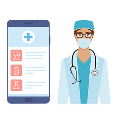 application for online patient-doctor consultation vector image