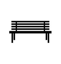 bench park icon garden bench silhouette vector image