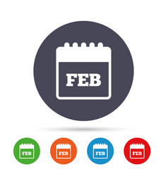 calendar sign icon february month symbol vector image