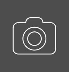 camera line icon outline on vector image