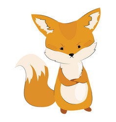 cartoon angry fox stylized cute fox vector image
