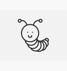 caterpillar toy icon on white background line vector image