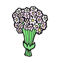Comic cartoon flowers vector