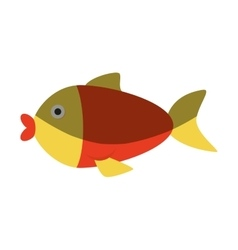 Cute fish isolated icon vector