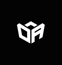 da logo monogram with emblem style ribbon design vector image
