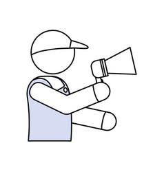 Deliver courier pictogram vector